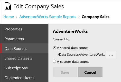 Working with paginated reports (web portal) - SQL Server