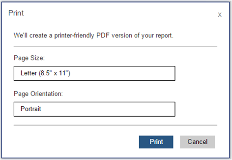 Enable and Disable Client-Side Printing for Reporting