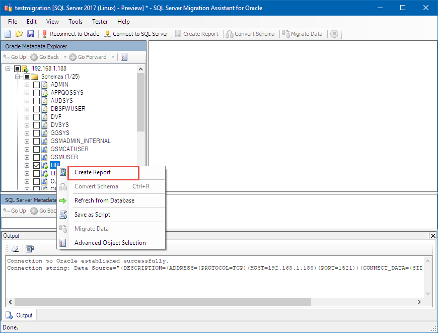 Migrate the Oracle HR Schema to SQL Server on Linux - SQL