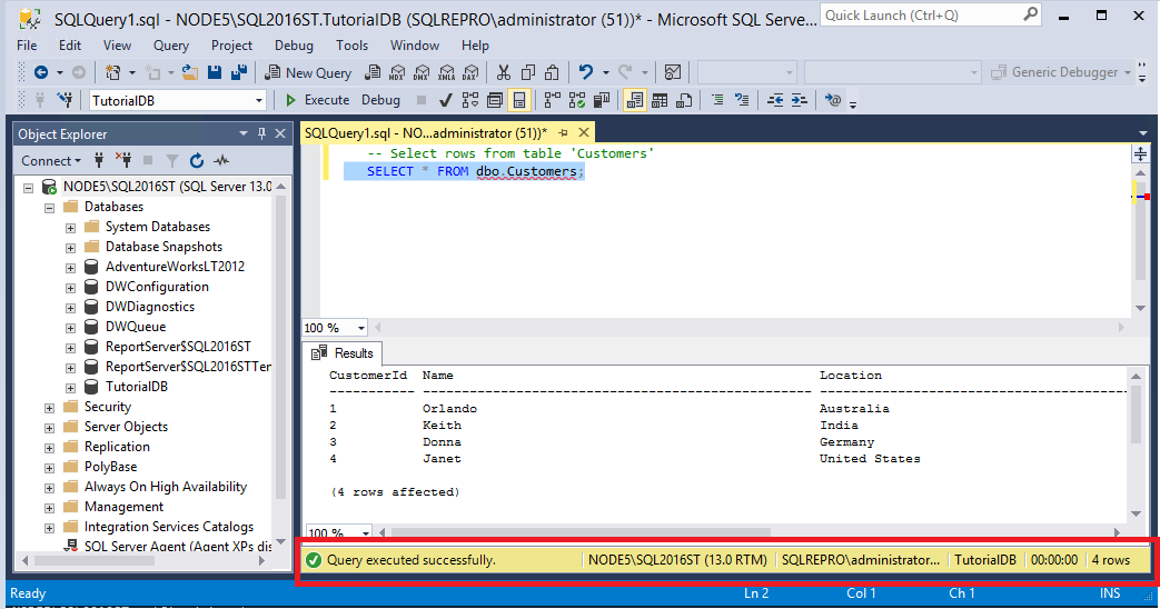 Examples: order by desc in mssql server tutorial.