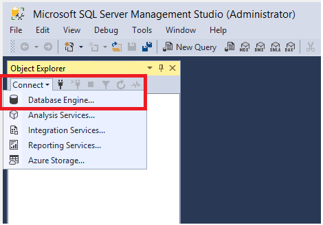 Connect to and query a SQL Server instance by using SQL Server