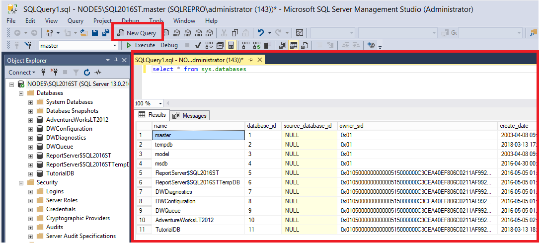 Tutorial Sql Server Management Studio Components And Configuration