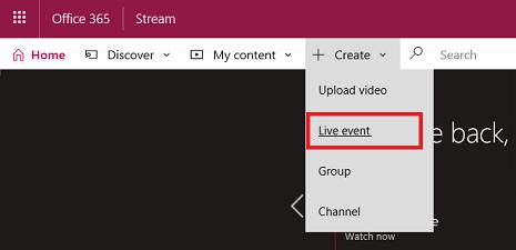 Create - Live event