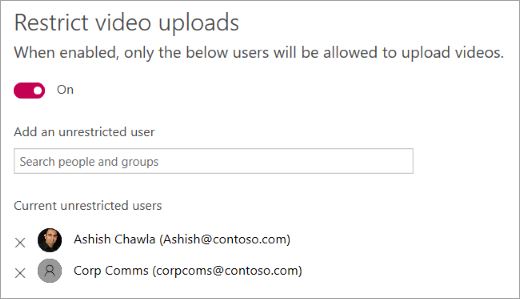 Restrict employees who can create videos in Microsoft Stream