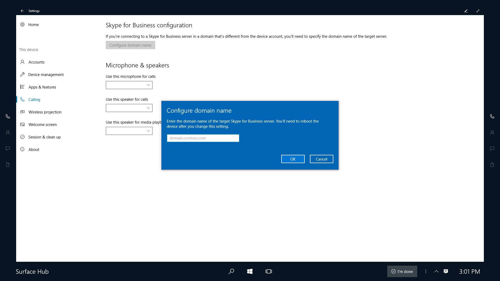 Configure skype