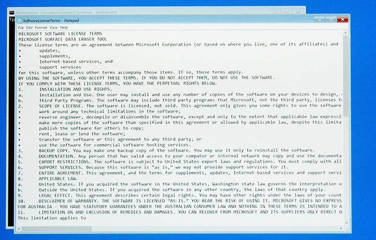 Microsoft Surface Data Eraser (Surface) | Microsoft Docs