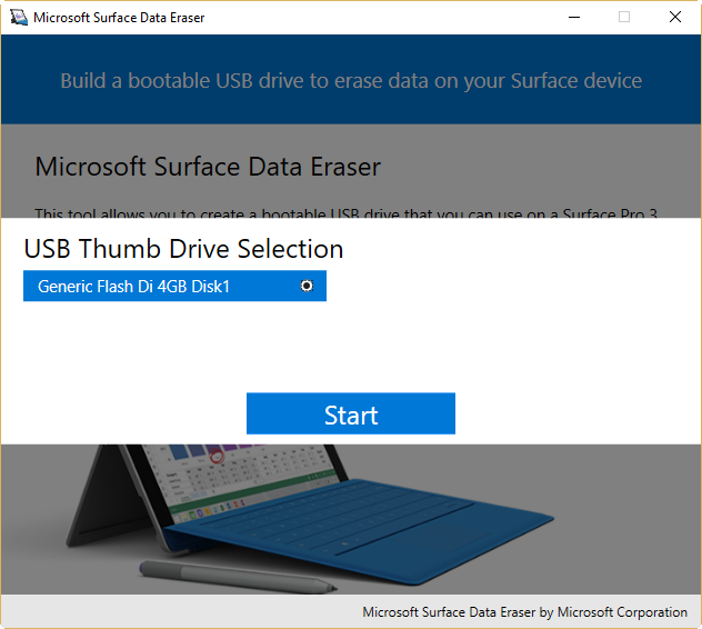 microsoft surface 1 boot from usb