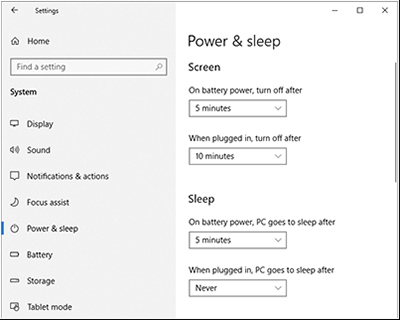 Best practice power settings for Surface devices | Microsoft