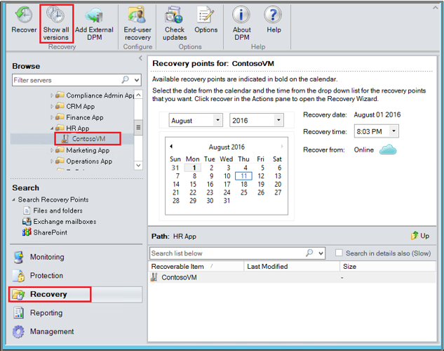 Back up and restore VMware Virtual Machines | Microsoft Docs