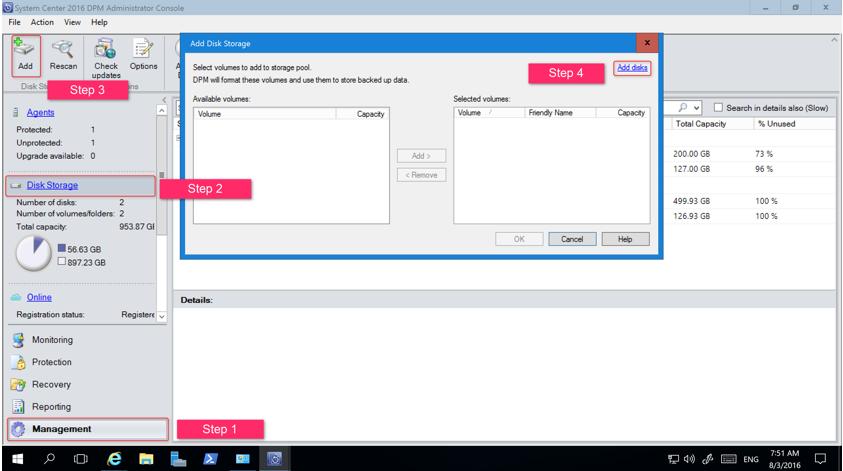 Add Disk Storage dialog