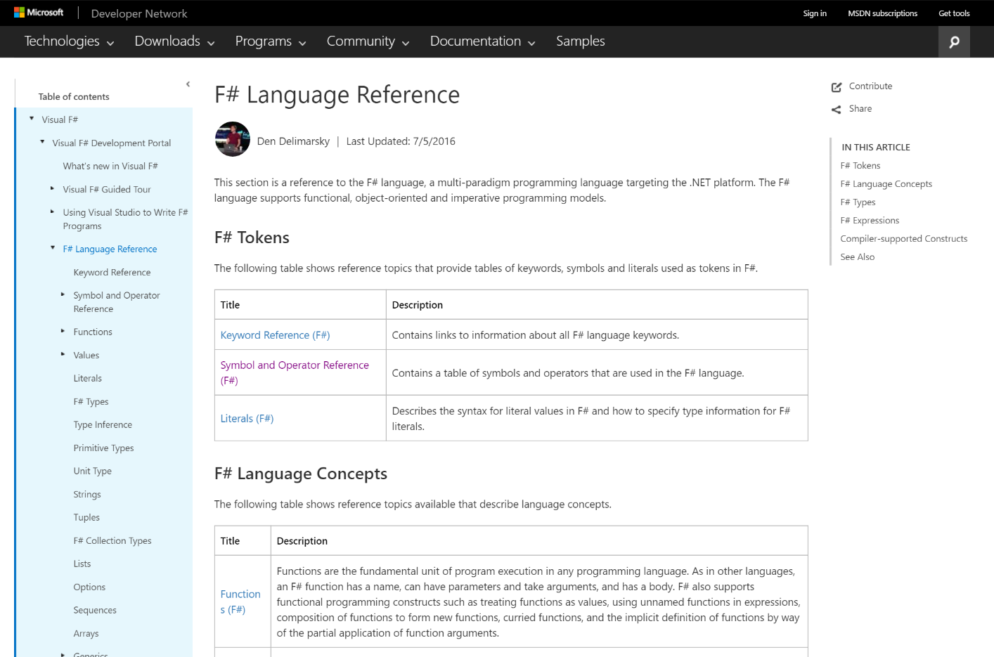 F# docs are now on docs microsoft com | Microsoft Docs