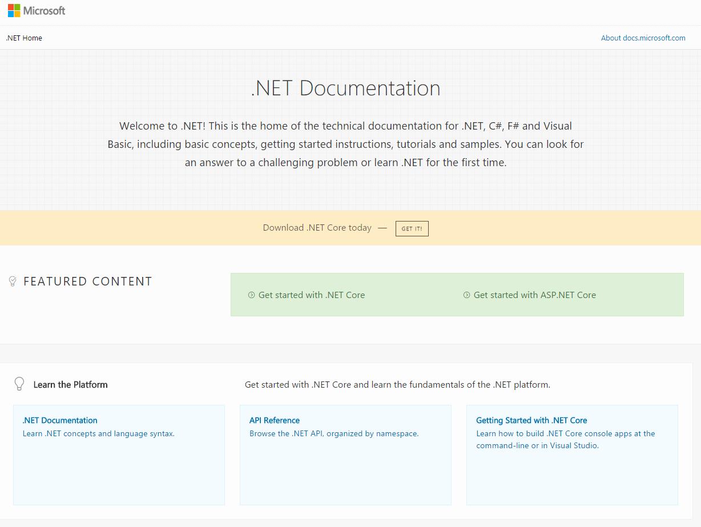 Introducing  NET Core Docs | Microsoft Docs