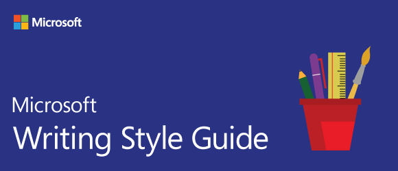Microsoft Writing Style Guide Released