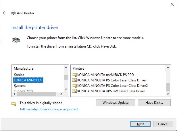 Konica minolta bizhub 206 driver download for windows 7