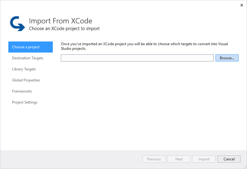 Import an XCode Project - Visual Studio | Microsoft Docs