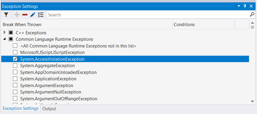 Manage exceptions with the debugger - Visual Studio