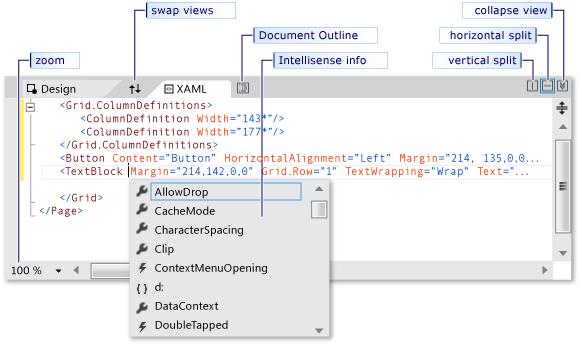 Creating a UI by using XAML Designer in Visual Studio - Visual ...
