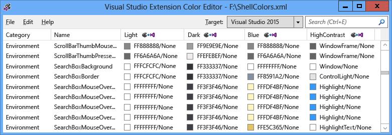 Vsix Color Editor Visual Studio Microsoft Docs