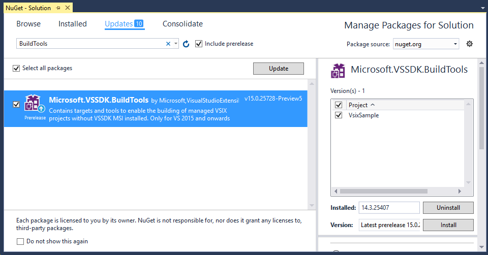 How to: Migrate Extensibility Projects to Visual Studio 2017