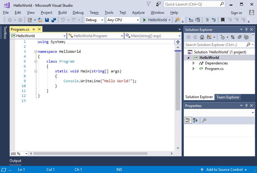 Overview Of Visual Studio 2017 Microsoft Docs