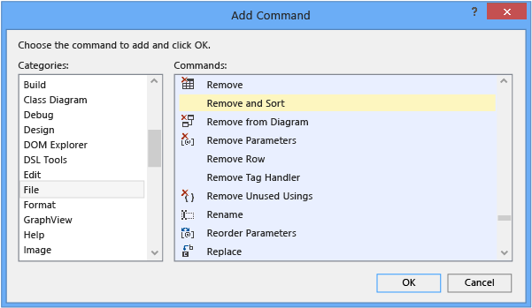 Customize Menus And Toolbars Visual Studio Microsoft Docs
