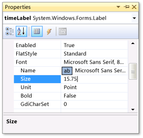 Step 1: Create a project and add labels to your form - Visual Studio