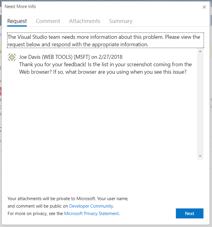 how to report a problem with visual studio microsoft docs