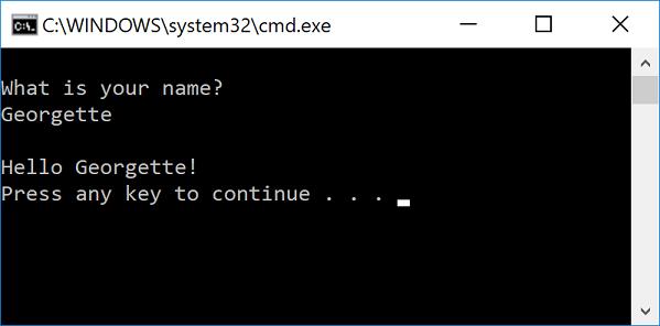 Console window input