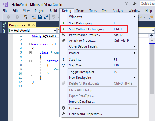 Visual Studio Introduction – Support