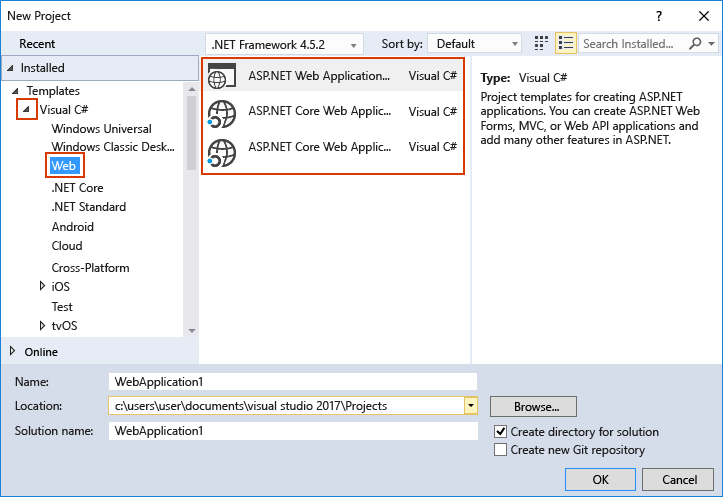 how to permanantly change visual studio project location