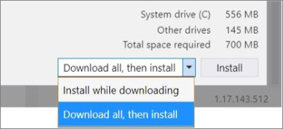 """The """"Download all, then install"""" option"""