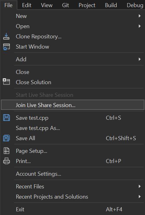 Collaborate using Visual Studio - Visual Studio Live Share