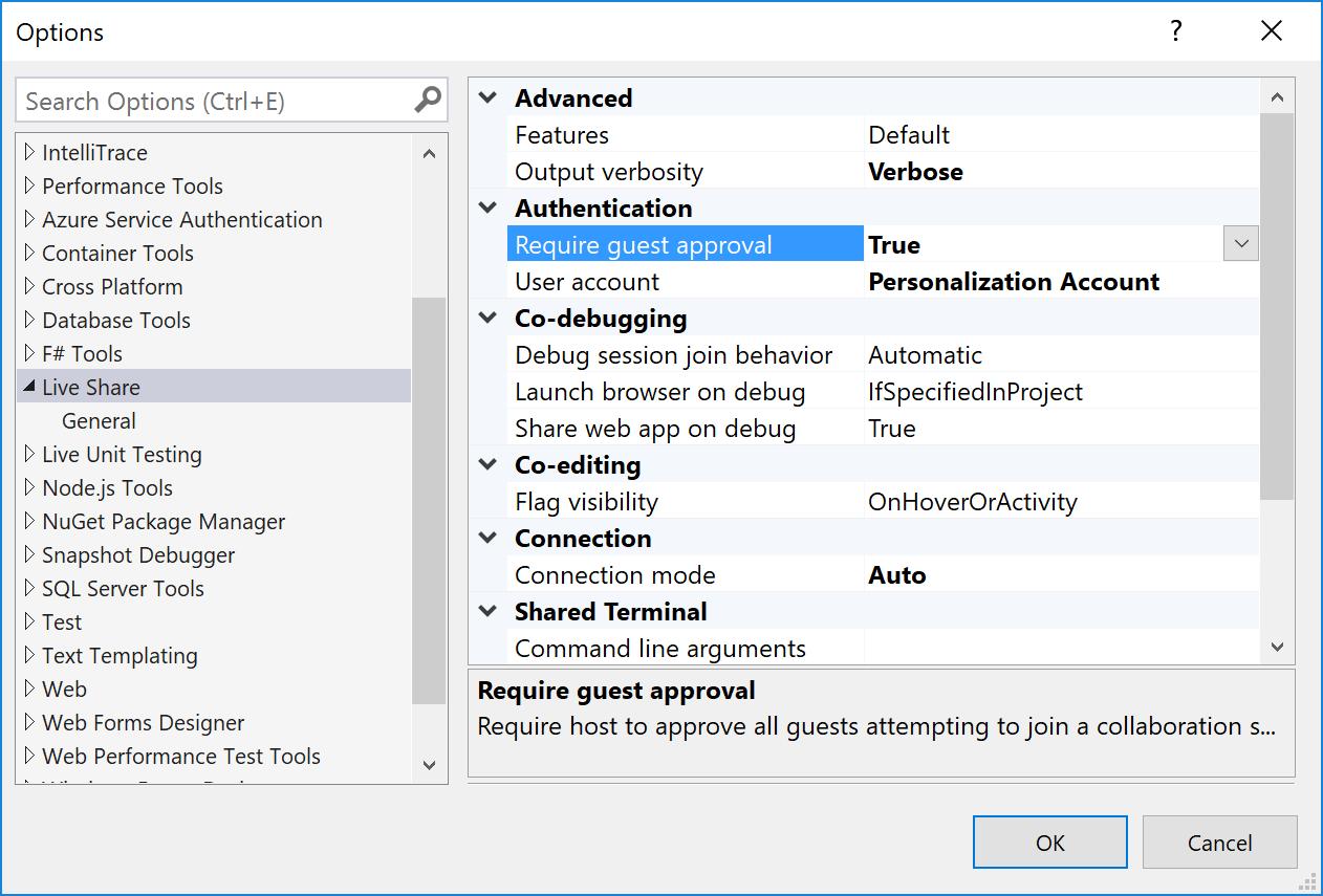Security - Visual Studio Live Share - Visual Studio Live