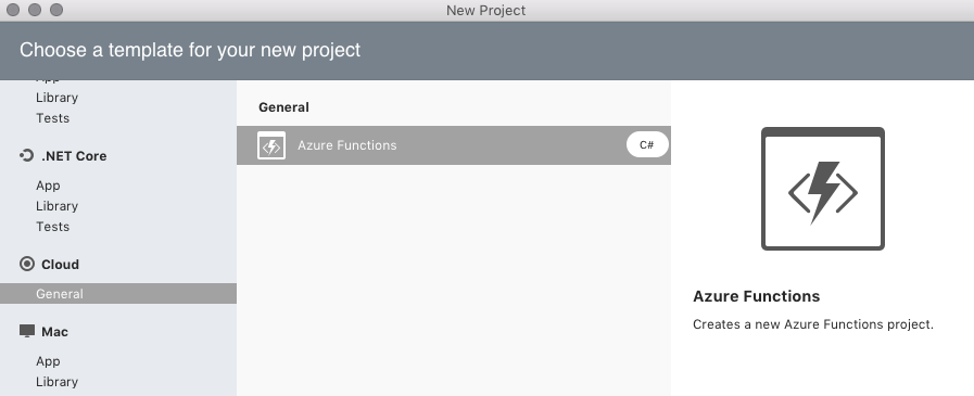 Introduction to Azure Functions - Visual Studio 2019 for Mac