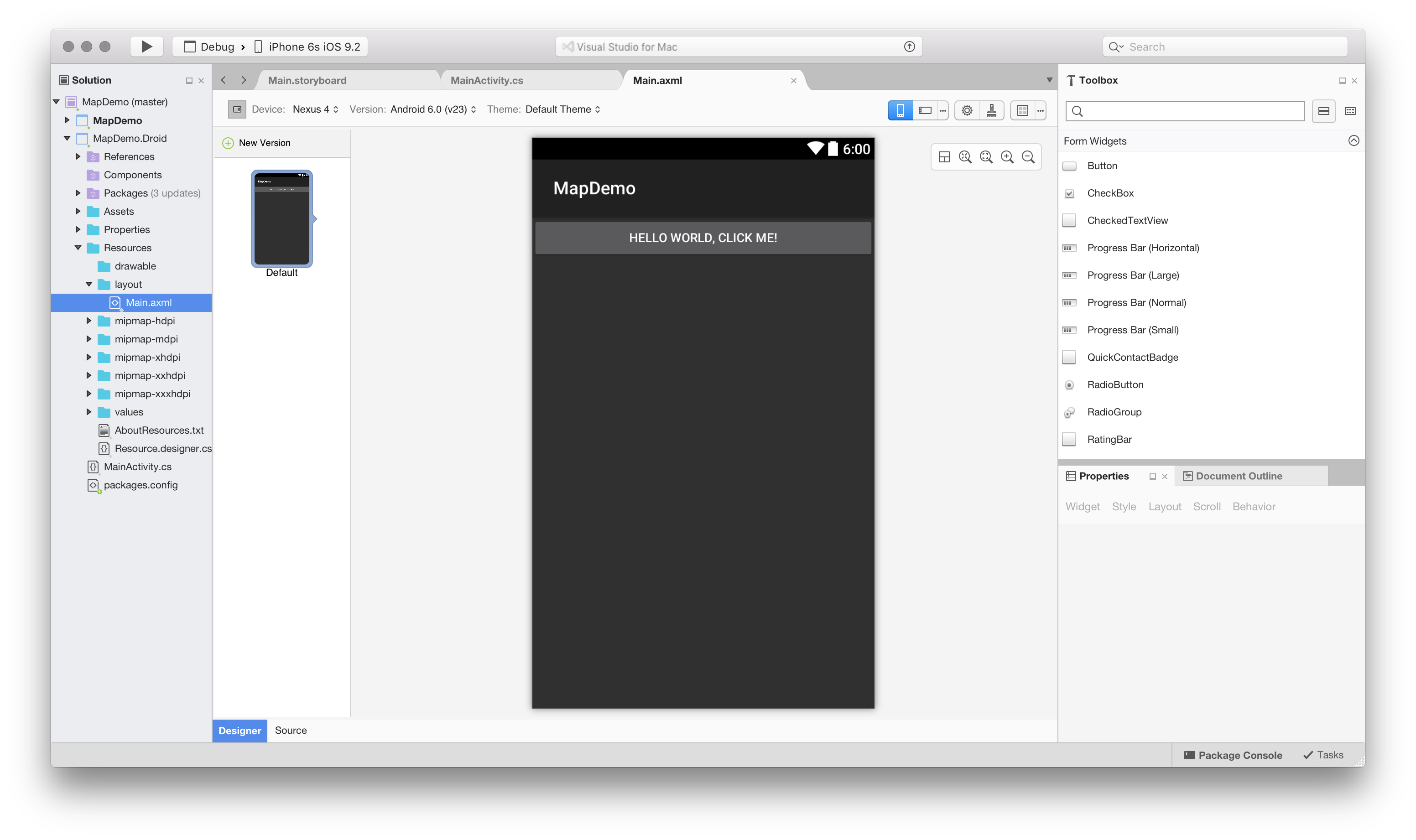 Android Studio Design Surface