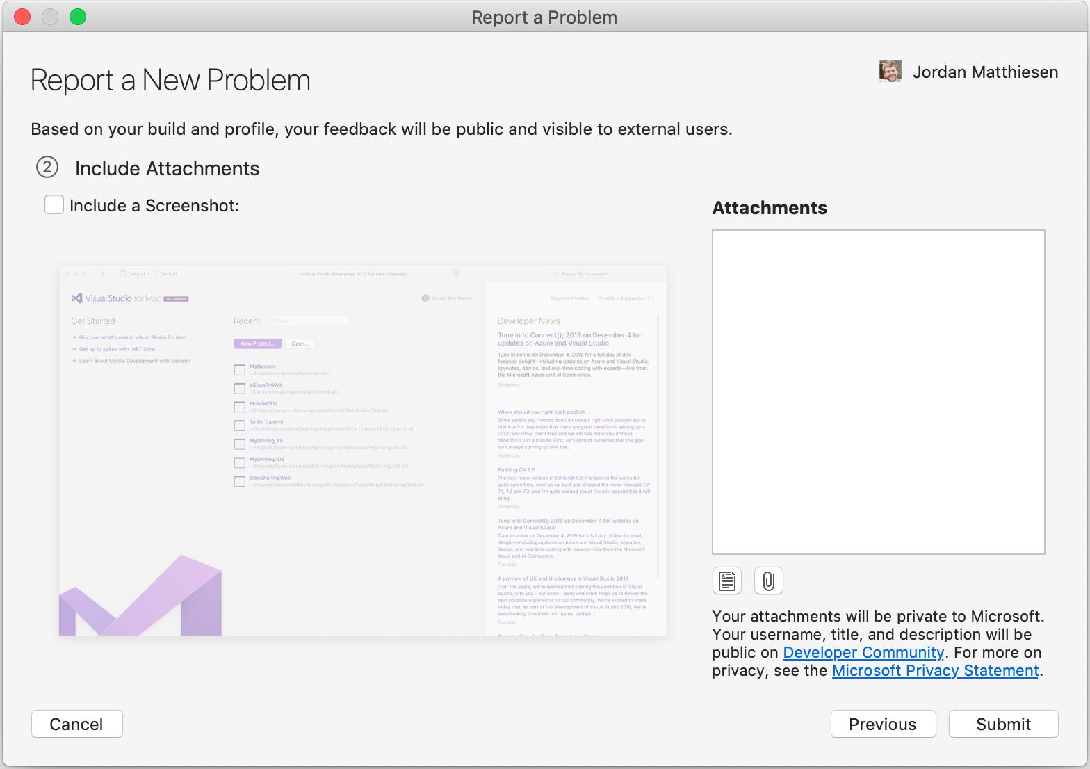 how to send a screenshot mac