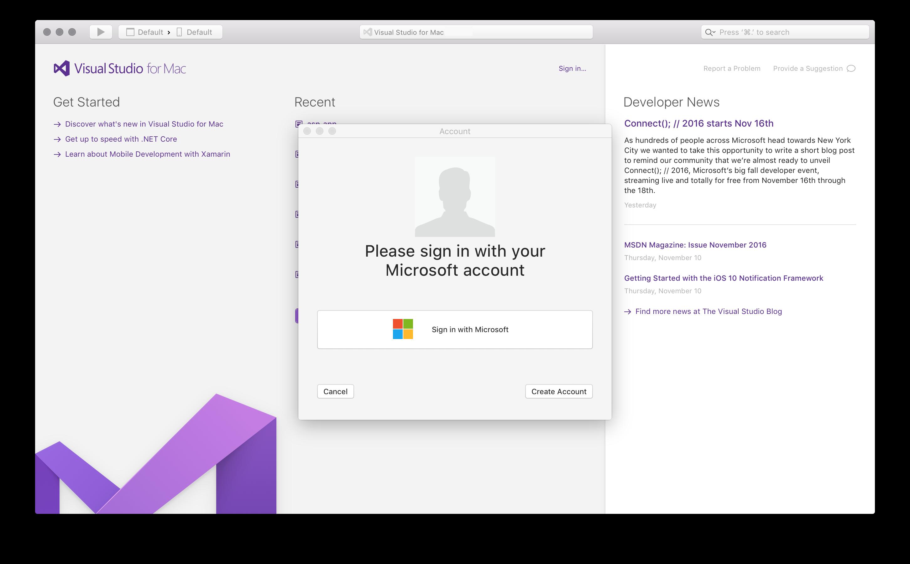 how to change microsoft accounts on mac