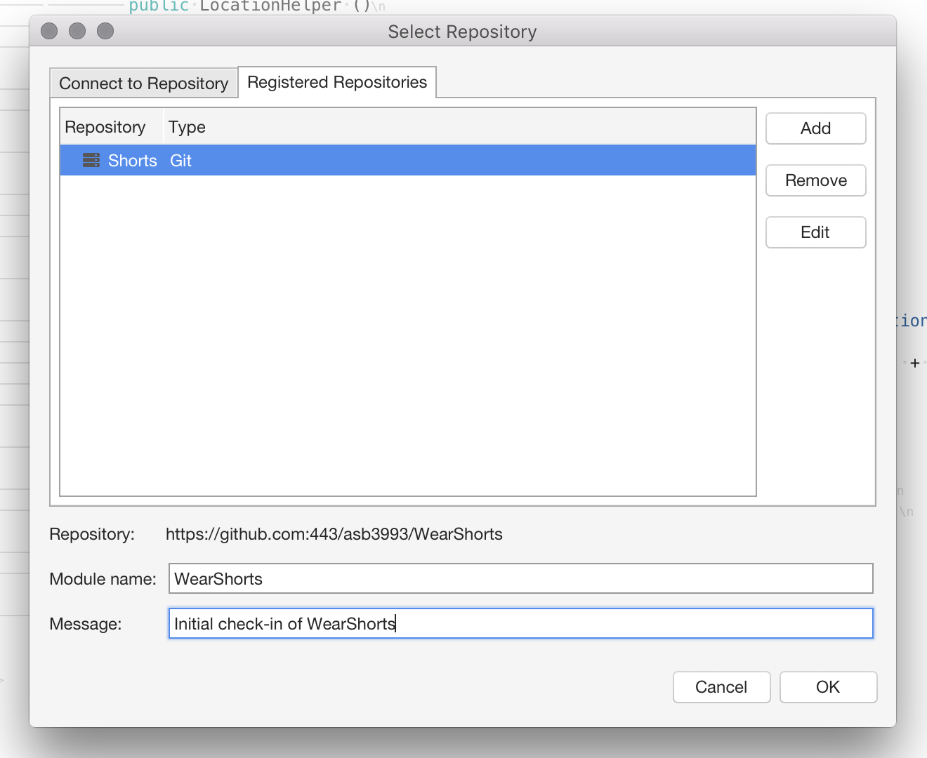 Setting up a Git Repository - Visual Studio 2019 for Mac