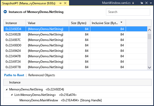 Measure memory usage in your apps - Visual Studio