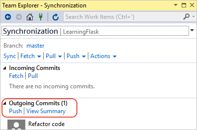 Learn Flask tutorial in Visual Studio step 2, views and