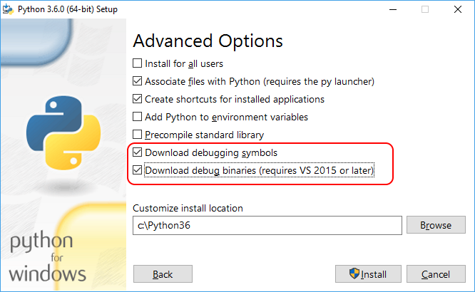 Symbols For Mixed Mode Pythonc Debugging Visual Studio
