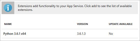 Configuring Python on Azure App Service - Visual Studio   Microsoft Docs