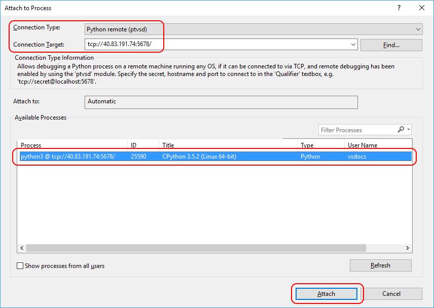 Debugging Python Code On Remote Linux Computers Visual Studio
