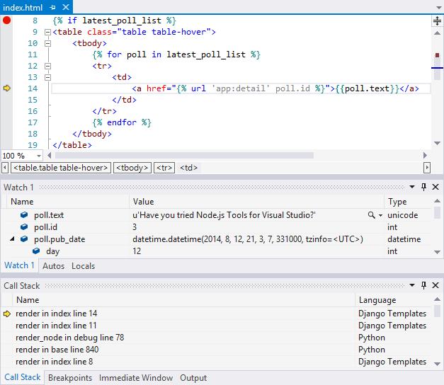 Django web project template for Python - Visual Studio | Microsoft Docs