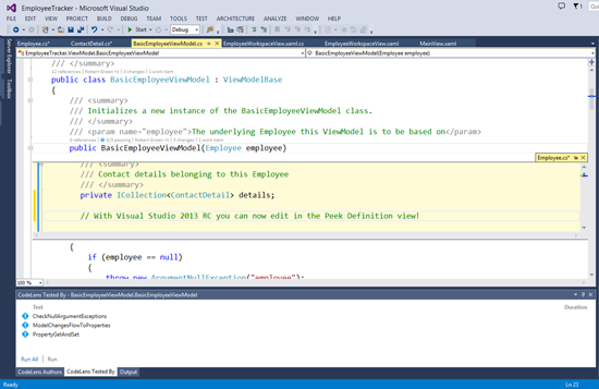 how to make notes visual studio