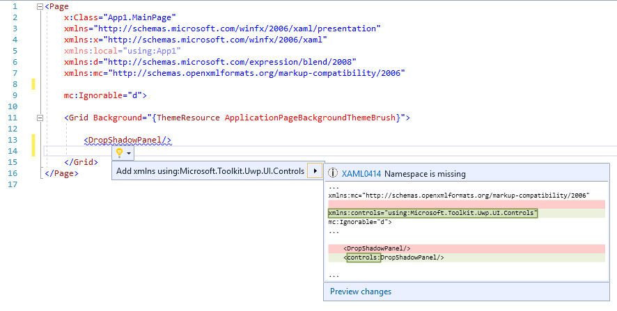 IntelliSense_without namespace