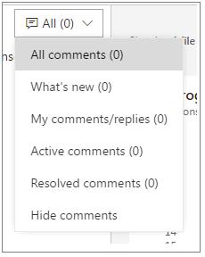 PR comment filtering