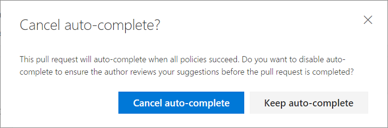 Cancel auto-complete dialog