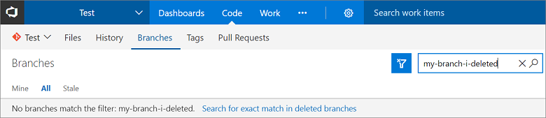 Search for deleted branches
