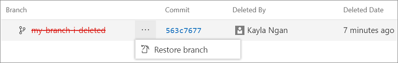 Restore deleted branches